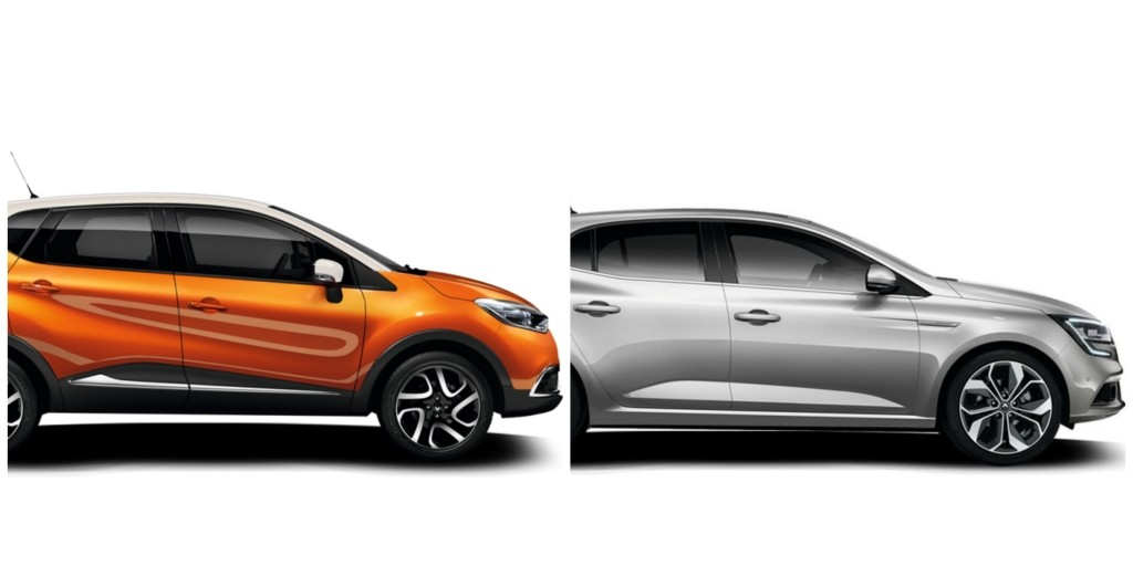 Renault CAPTUR (from €17,790) & MEGANE (from €14,490)