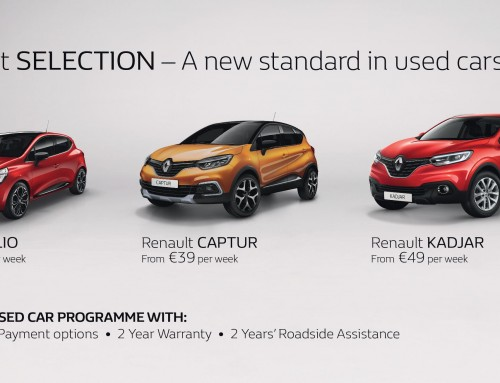Renault SELECTION launches PCP on 3-Year Old Renault and Dacia Cars at Cleary Motors!